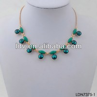 Different types of necklace chains jewelry turquoise beaded chain turquoise crystal teardrop necklace