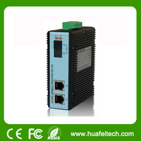 3 port single mode, SC, dual fiber, Industrial Unmanaged Media Converter/fast ethernet copper to fiber media converter