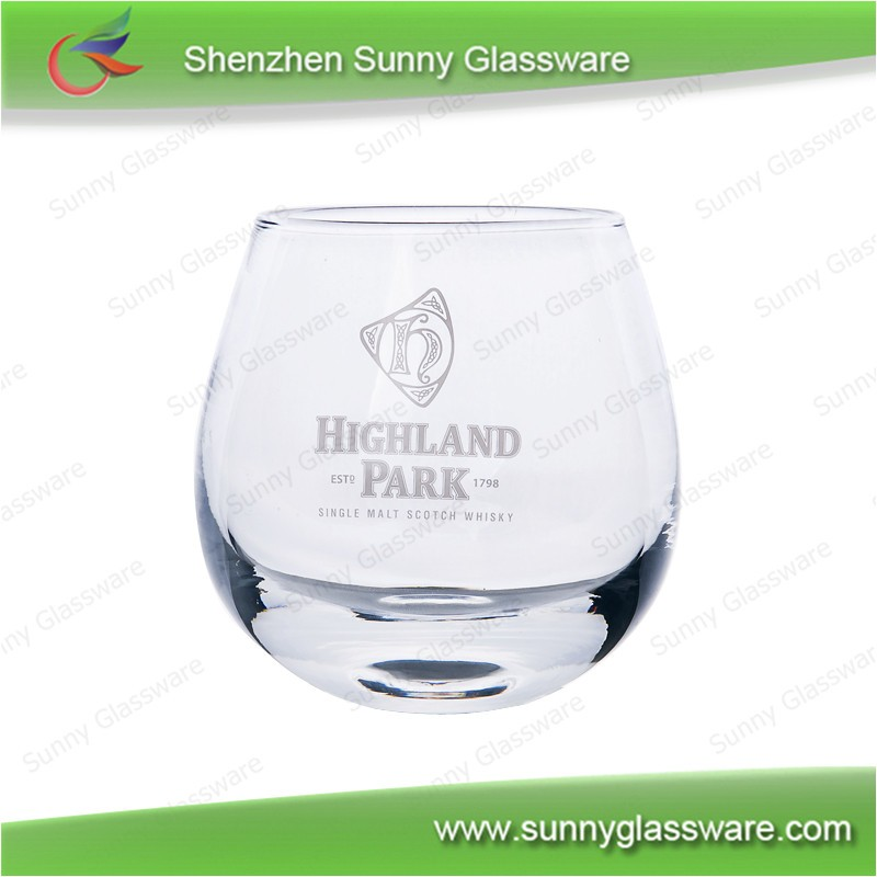 Hot sale crystal whiskey glass rocking whiskey glass