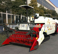 2015 Hot sale 4LZ-4.0 Vertical Threshing Rice wheat Combine Harvester with CE certificate