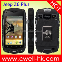 Hot sale Dual SIM Card Quad Core 4.0 Inch IPS Screen Jeep Z6+ Rugged Smartphone