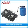 2015 venta caliente! verano parrilla de Gas butano 2 estufa de Gas del quemador