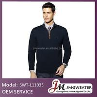Custom Knit Sweater Long Sleeve Black brand name Man Sweater with Zipper