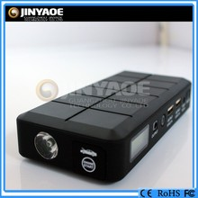 Black color jump starter with lcd displayer uniball bearing power starter high power car starter