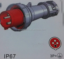 Rated current 63A/125A industrial plug