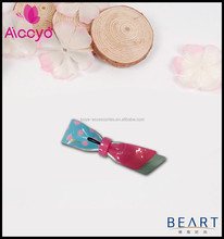 Hot Sale little girls fancy bow covers small alligator hair clip