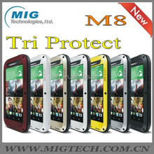7 colors LOVE MEI Powerful For HTC M8 cover , Shockproof Waterproof Rugged Gorilla Cell phone case