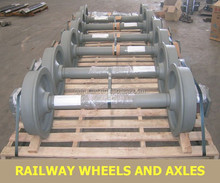 railway supplier , china manufacture railway wheel and axle for wheelset