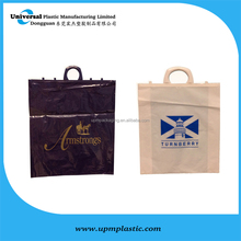 Customized gravure printing with Halloween picture clip handle carrier bag