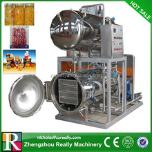 Glass and PET jars and packages for meat and fish autoclave sterilizer