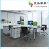 4 seats workstation in a row for office center use/Office Workstation DA-11