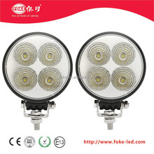 12 Watt flood light round design LED work light 3 w/chip*4 pcs
