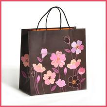 reusable eco bag , flower eco friendly bag , paper eco shopping bag