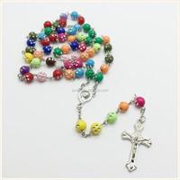 plastic beads chirstian prayer necklace ,Jesus rosary beads necklace