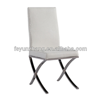 low price dining room white pu wedding chair