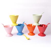 7oz special shape ceramic ice cream cup