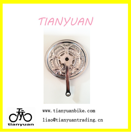 steel bicycle bike parts chainwheel&crank with chaincover