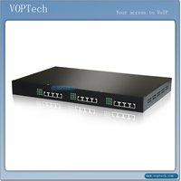 20 fxs and 4 fxo ports voip gateway of Voptech support max 16 concurrent calls and 4 land line
