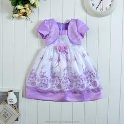Hot sale new Western style kids frocks designs baby Princess dress