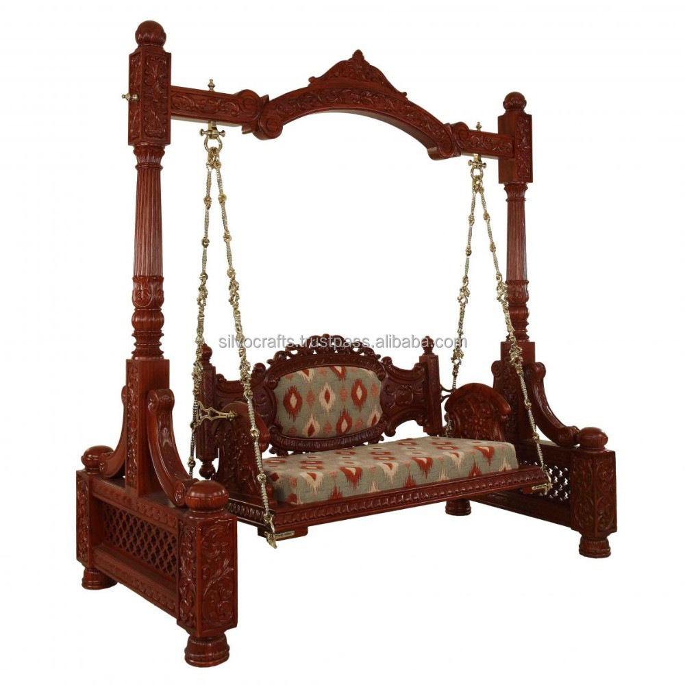 Royal indian rajasthani hand carved swing jhoola carved for Modern swing set design