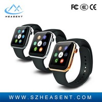 2015 Hot sleep monitor pedometer camera bluetooth sim card slot 1.54inch android wrist a9 Heart Rate Monitor New Smart Watch A9