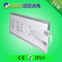 25W IP65 super bright integrated all in one solar led light vandal proof fixture bamboo light stand plastic shell pool