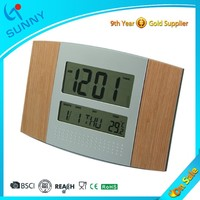 Sunny Electric Digital Decorative Wooden Wall Clock