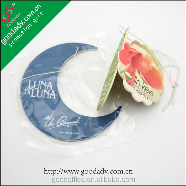 [Made in China] With frangrance Custom design paper air freshener for car