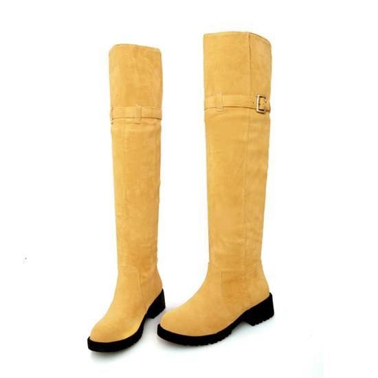 2014 New Arrive Hot Sale Fashion Round Toe Over Knee Boots For Women
