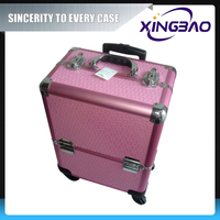 Mobile makeup station,beauty woman cosmetic case,personal quality cosmetic case