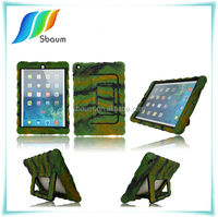 Sbaum Military heavy duty shockproof tough stand case for ipad air 5 retina case