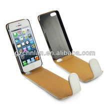 angel design leather case for iphone 5 hot selling wallet case