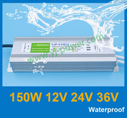 (YJP-V15036) AC to DC Power Supplier 36v 150w led driver IP67 waterproof power supply 150w, 10pcs/lot Free shipping