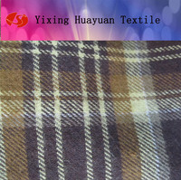 wholesale 100% cotton flannel shirt plaid flannel fabric with custom for shirting
