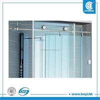 Frameless complete sliding glass enclosed shower enclosure room