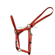 pvc horse racing headstall. horse halter with brass fittings