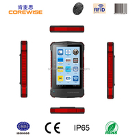 Android quad core smart phone with wifi, 3g, gps,gprs,bluetooth,barcode scanner, fingerprint sensor, corewise rfid tablet pc