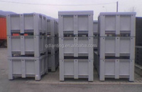 stackable plastic crate for agriculture ,forlift large closed bin without holes on sides for dangerous liquid