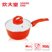 20cm forged aluminium sauce pan with white ceramic coating