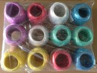 colorful pp raffia/ string plastic film