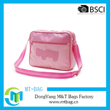 Flash pink pvc leather retro shoulder bag for girls school bags