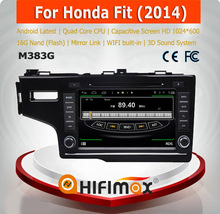 HIFIMAX Android 4.4.4 honda fit 2014 car stereo with gps navigation mp3 radio cd player car dvd player for honda fit 2014