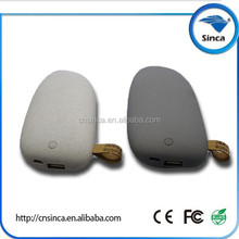 new arrival stone shape private lable 5200mah 5.3v 2a usb charger power