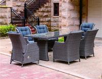 Aluminum wicker furniture resin outdoor sofa set, garden rattan sofa, best sofa set