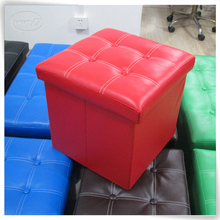 Foldable leather storage ottoman manufacturer