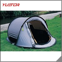 2 Person Pop Up Tent Automatic Boat Tent with Double Doors Double Windows Lazy Tent