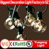 Holiday decoration 8M 25Bulbs Clear Globe G40 String light for Outdoor Christmas decoration