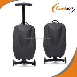 New style pp+polyester luggage scooter president luggage