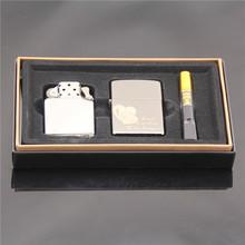 Dual Kit Black Ice Love Machine + kerosene machine three-piece gas lighter
