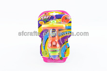 Flashing Spin Top Bounce Top,Plastic Spinning top with flashing light,magic top,flashing spinning top toys for kids